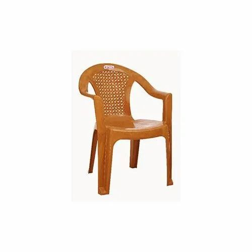 Brown Arris Plastic Arm Chair, for Indoor