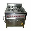 SS Four Burner Oven Cooking Range
