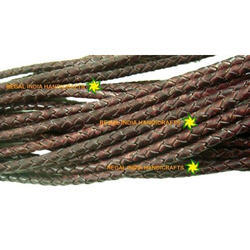 Antique Burgandy Braided Leather Cord