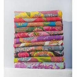 Multi Design Printed Kantha Quilt
