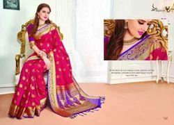 Pink Color Art Pattu Silk Saree