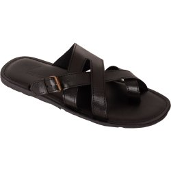 Black and Tan Synthetic Leather Vonzo Men's Formal Slipper/ Flip-Flops/Chappal 4017