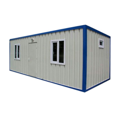 FRP White and Blue Prefabricated Building