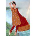 Designer Print Bandhej Suit