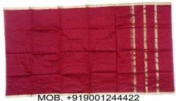 Silk Maroon Banarasi Turban Fabric