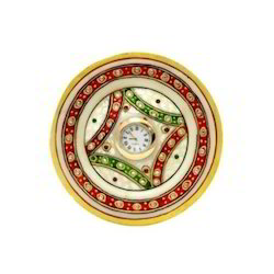 Round Simple Thali Table Clock