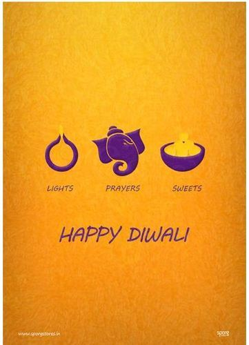 Happy Diwali Lights Prayers And Sweets Poster At Rs 300 Unit