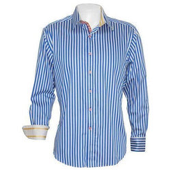 Macbear Men Cotton Striped Casual Shirt