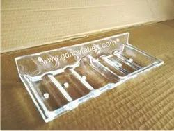 Acrylic Double Soap Dish Rectangle