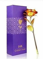 Sanvatsar Artificial Gold Plated Rose for Valentine and Gift Purpose