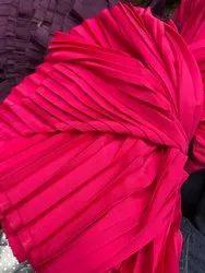 Pink Rani Pleated Fabric
