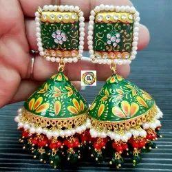 Meenakari Hand- Painted Earrings