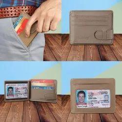 Genuine Leather Credit Card Holder RFID Secured
