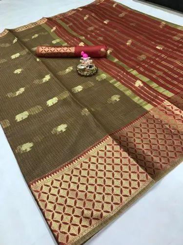 Latest Kota Silk Saree with 6.3 m Blouse Piece