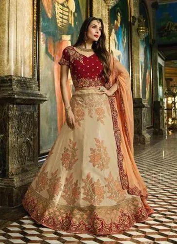 d42e09c6077a2 Semi Stitched Royal Look Bridal Wear New Designer Lehenga Choli