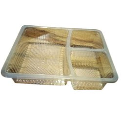 3 Portion Plastic Meal Tray, for Event and Party Supplies