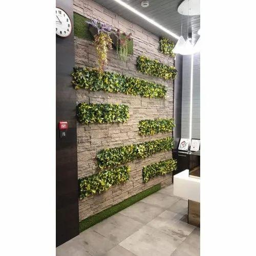 Green Plastic Indoor Vertical Garden Rs 150 Square Feet Interior
