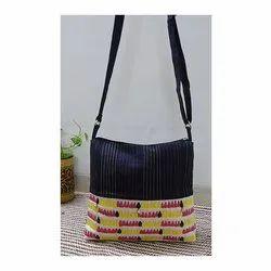 Handmade Cotton Multi Color Embroidered Sling Bag