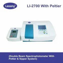 Microprocessor UV-VIS Double Beam Spectrophotometer (Model LI-2700 With Peltier & Sipper System)