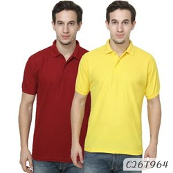 Cotton Mens T Shirts, Pack Of 2