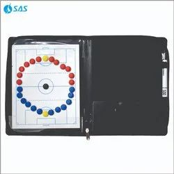 PVC Black SAS Zip Magnetic Planning Folder for Football