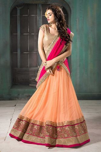 837f70537cb0b As On Pic Georgette Lehenga With Blouse And Dupatta In Multiple Colors