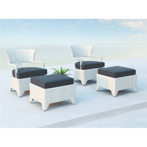 Garderin Modern Wicker Outdoor Easy Chair Set