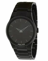 Men Police Analog Black Dial Watch