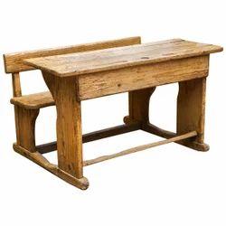 Two Seater Wooden School Desk