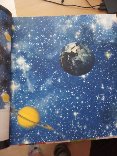 Galaxy Design Kids Room Wallpaper