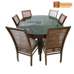 Danube Solid Oval Rosewood Dining Set