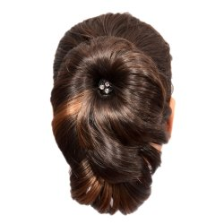 Clip On Hair Extension Brown With Highlight