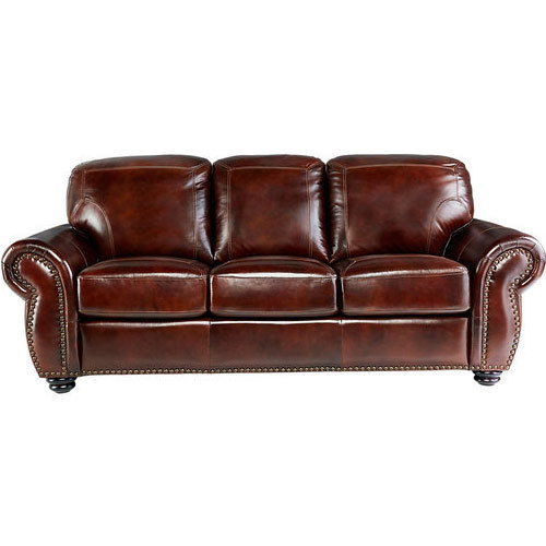 Leather Sofa - Brockett Brown Leather Sofa Wholesale Trader ...