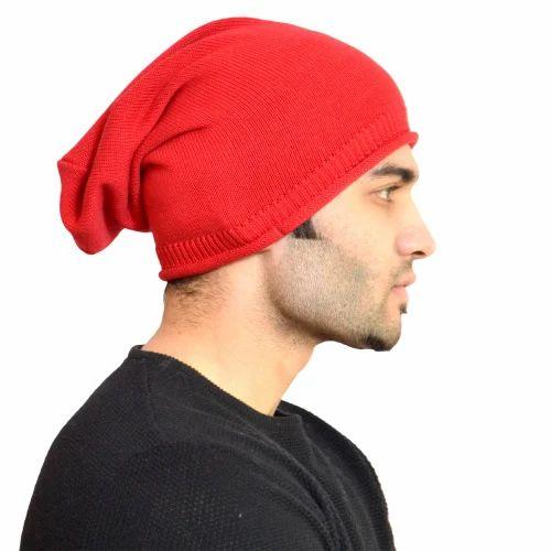 248301715 Men's Red Woolen Cap