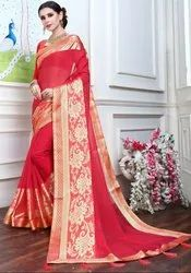 Hot Pink Fancy Party Wear Saree