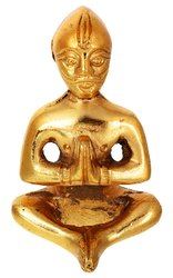 Kesar Zems Zinc Lord Vastu Purush Idol (6 cm x 3 cm x 3 cm, Gold)