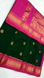 Zari Party Wear Kuppaddam cotton Sarees, 6 M (with Blouse Piece)
