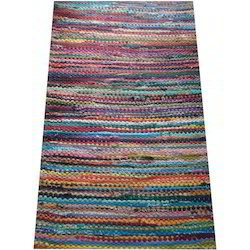 Multicolor Waste Cotton Handmade Chindi Rag Rugs