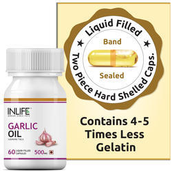 INLIFE Garlic Oil Capsules, Packaging Type: Hdpe Bottle, Packaging Size: 60