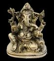 Nirmala Handicrafts Brass Sitting Ganesha Statue Religious Gold Finish Antique God Idol