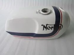New Norton Commando Roadster White Painted Petrol Tank