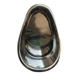 Silver Shine Stainless Steel Urinal