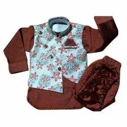 Casual Wear Printed Kids Kurta Pyjama