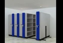 Eurofresh Blue and White Mobistack File Locker Cabinet