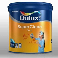 Mid Sheen 3 in 1 Dulux Super Clean, For Interior, Packaging Type: Bucket