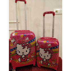 Poly Carbonate Printed Trolley Bag, Size: 18 And 21 Inch