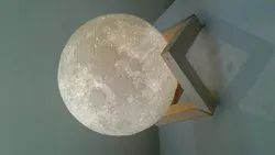 10cm 3D Printed Moon Lamp