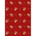 Rubina Gold Printed Mattress Fabric