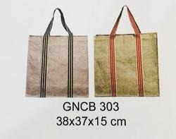 Jute bag with colored strap