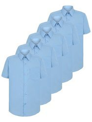 Sky Blue HypaCool Men's Half Sleeve Shirt